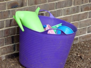 Bucket of watering cans and buckets 3-15-16005